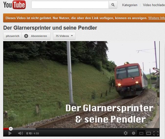 Kurzvideo PH Zürich GL Sprinter & seine Pendler