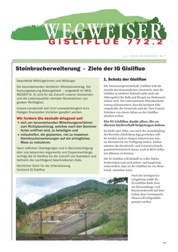 Gisliflue 20160705 IGG Wegweiser 7