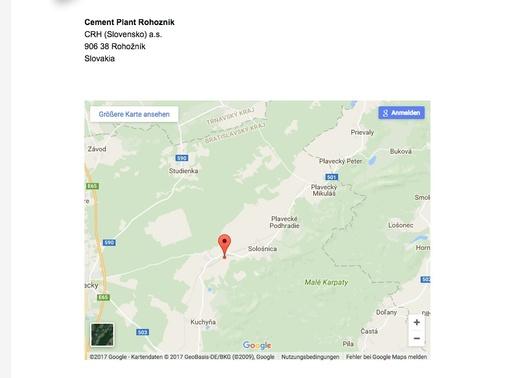 Cement Plant Rohoznik Slovakei
